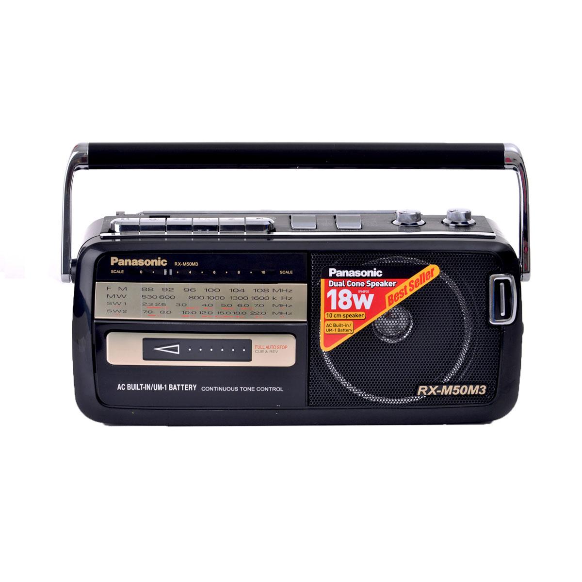 باناسونيك - مسجل مشغل كاسيت وراديو - موديل RX M50M3