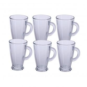 كاسات شاي زجاج  - طقم 6 حبة - رقم ROM404