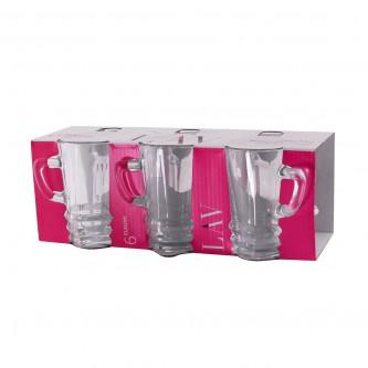 بيالات شاي زجاج  - طقم 6 حبة - رقم TPL425