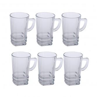 بيالات شاي زجاج  - طقم 6 حبة - رقم ELG429