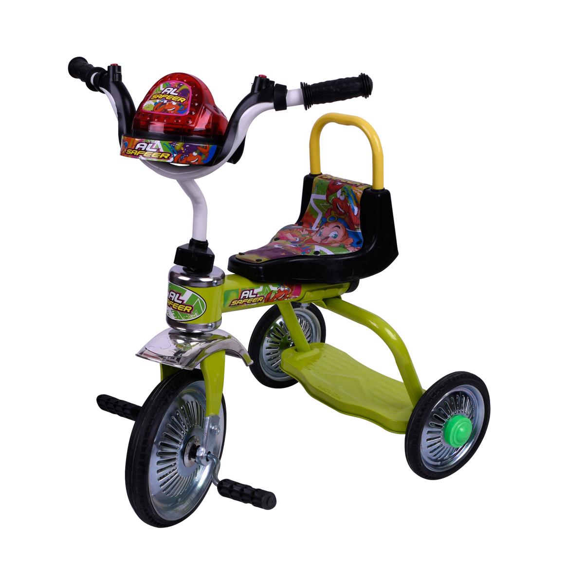 دراجة اطفال ثلاث عجلات - مقعد واحد - رقم 606SNN -  الوان متعدده