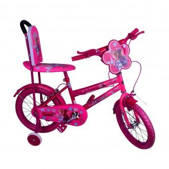 دراجة هوائية للأطفال - مقاس 16 إنش -  لون وردي بناتي