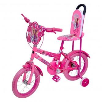 دراجة هوائية للأطفال - مقاس 14 إنش -  لون وردي بناتي