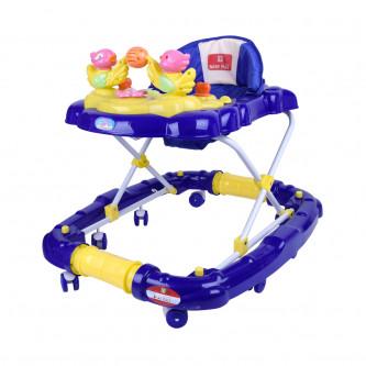 مشاية اطفال بعجلات متحركة من بيبي بلس لون ازرق -  رقم BP7764