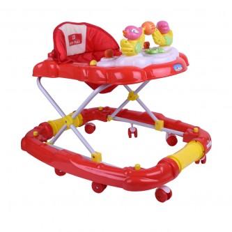 مشاية اطفال بعجلات متحركة من بيبي بلس لون احمر -  رقم BP7764