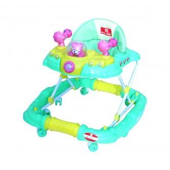 مشاية اطفال بعجلات متحركة من بيبي بلس لون اخضر -  رقم BP7761