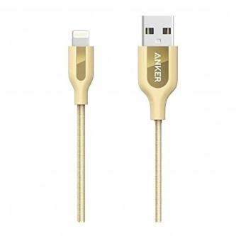 انكر باور لاين بلس كابل لايتنينج 3 أقدام لاجهزة الايفون - ذهبي - A8121HB2