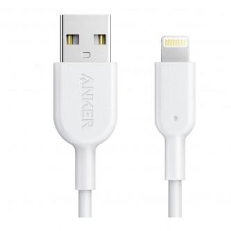 انكر باور لاين 2 كابل لايتنينج 10 أقدام لاجهزة الايفون - أبيض - A8434H21