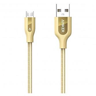 انكر باور لاين بلس كابل مايكرو يو إس بي 3 أقدام للاجهزة الاندرويد ,ذهبي,A8142HB1