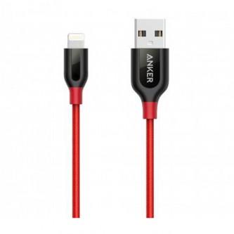 انكر باورلاين بلس كابل لايتنينج 6 قدم لاجهزة الايفون - أحمر -A8122H92