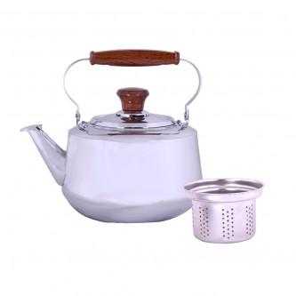 ابريق شاي مع مصفاه مقاس 4 لتر - استانلس استيل