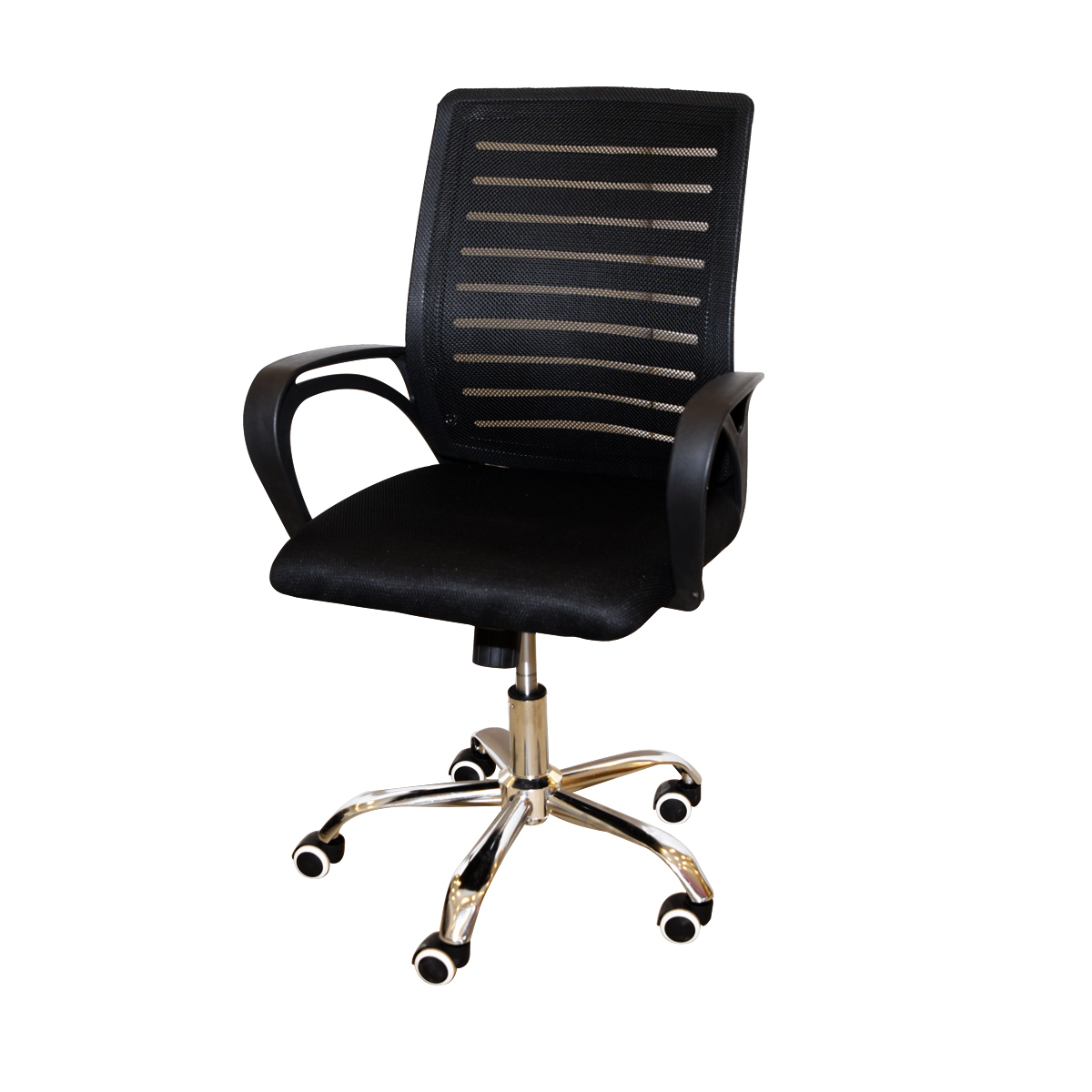كرسي مكتب متحرك بعجلات لون اسود