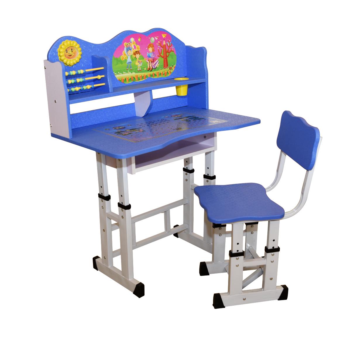 طاولة اطفال مدرسية خشب + كرسي - الوان D-18