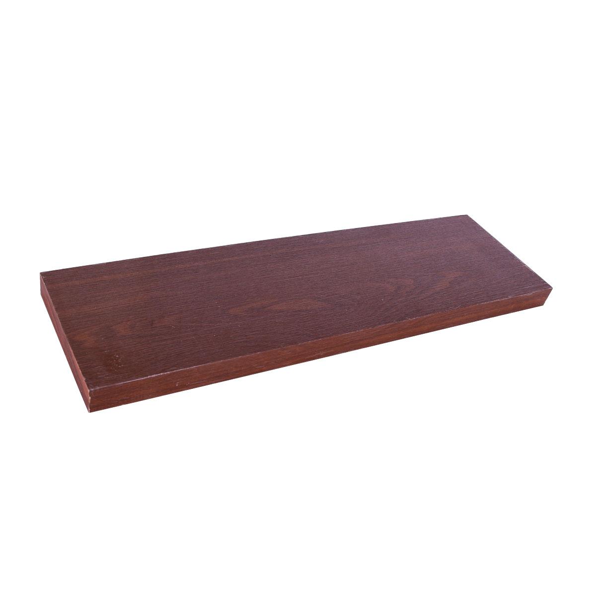 رف خشب جداري   -  80 * 23.5 سم لون بني - من ماي مارت