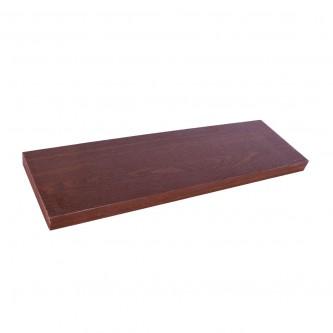 رف خشب جداري   -  80 * 23.5 سم لون بني رقم 0803