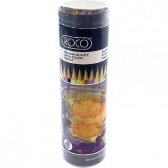 اقلام تلوين خشبية  مائية روكو مع فرشة  - 36 قلم تلوين