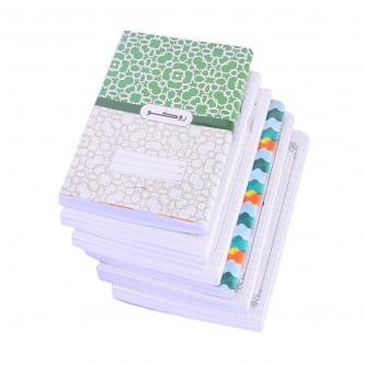 دفتر مدرسي عربي روكو مجلد غلاف باشكال متعدده -  100 ورقة  - ربطة 6 دفاتر -  اندونيسي