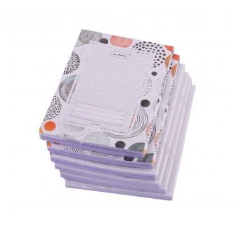 دفتر مدرسي عربي روكو مجلد غلاف باشكال متعددة  -  80 ورقة  - ربطة 6 دفاتر -  اندونيسي