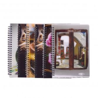 دفتر مدرسي انجليزي روكو سلك غلاف بأشكال متعددة  -  80 ورقة  - ربطة 6 دفاتر -  اندونيسي