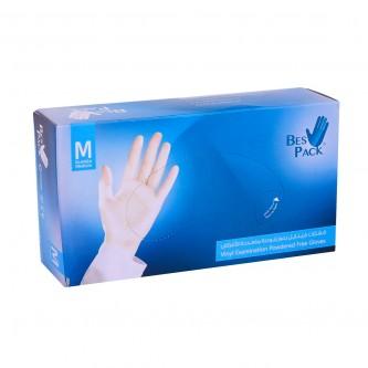 قفازات بلاستيكية  بست باك فينايل بدون بودرة متعددة الاستخدام مقاس M