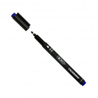 قلم خط عربي روكو ياباني مشطوف  - 3.0 مم - لون ازرق