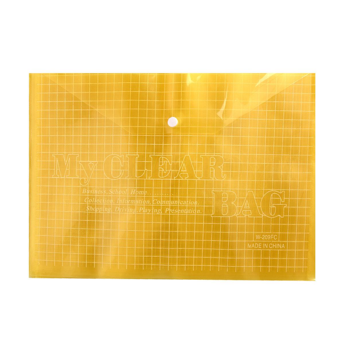 ملف بلاستيكي طقطق لحفظ الاوراق شفاف الوان متعددة رقم 20473 Ym 20473