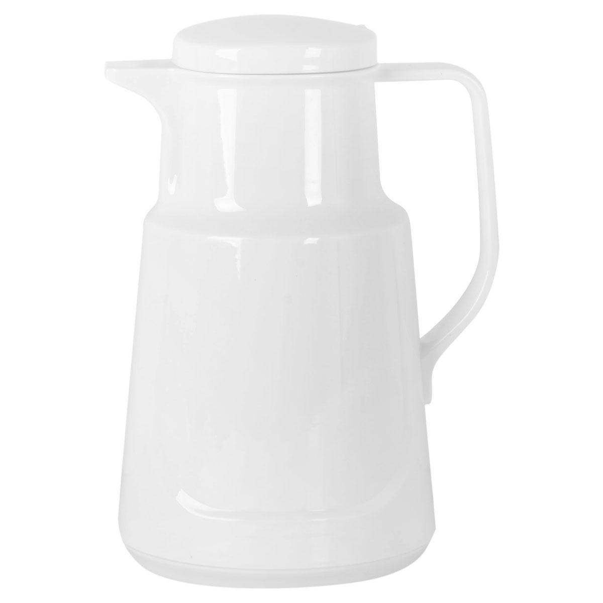 ترمس شاي وقهوة بلاستيك, 1 لتر , لون ابيض لؤلؤي , موديل YM-16123
