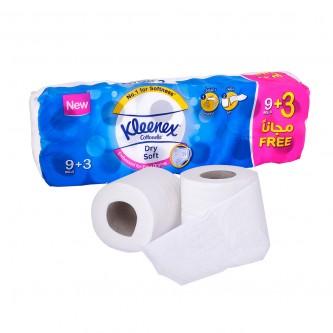 مناديل حمامات ورقية كلينكس - 9+3 رول - 200 منديل مزدوج