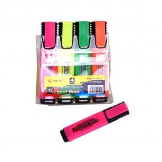 قلم تظهير طقم 4 الوان مختلفة رقم 20302