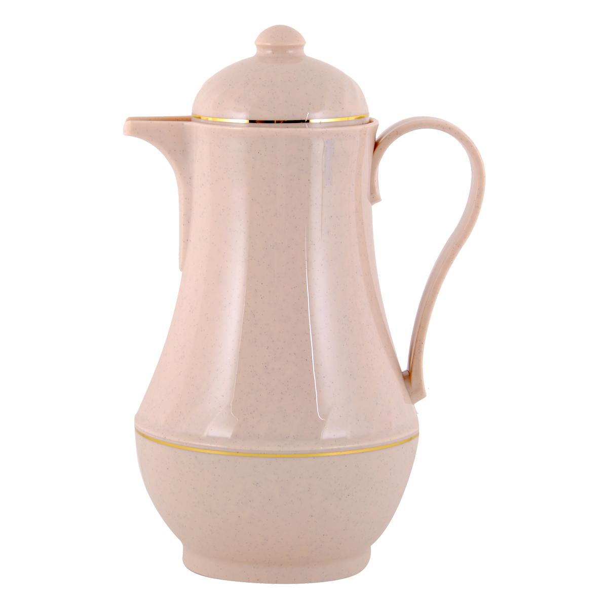 مور تايم , ترمس شاي وقهوة بلاستيك, 0.5  لتر,لون بيج ,YM-16126