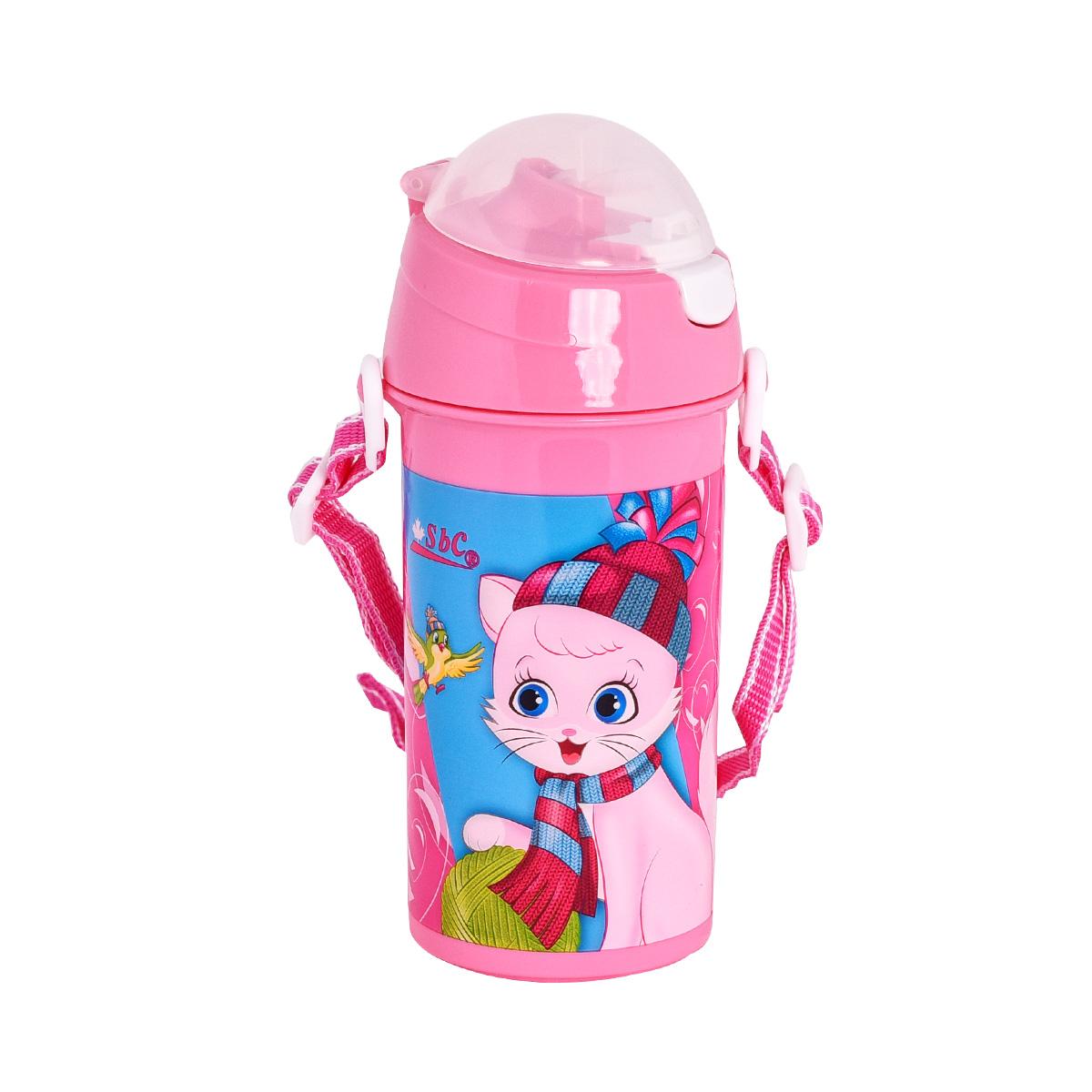 قارورة ماء مدرسية بلاستيكية لاطفال الروضه - هابي كات 4927-150