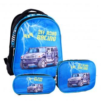 حقيبة ظهر مدرسية مع مقلمة وشنطة طعام - رقم 23772