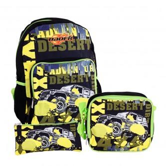 حقيبة ظهر مدرسية مع مقلمة وشنطة طعام - رقم TV-135