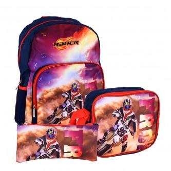 حقيبة ظهر مدرسية مع مقلمة وشنطة طعام - رقم TV-133
