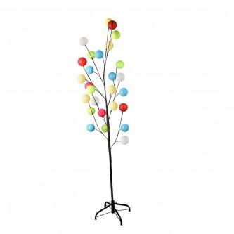شجرة زينةمضيئة كهربائية مع كرات ملونه  - اضاءة صفراء - موديل رقم MM383