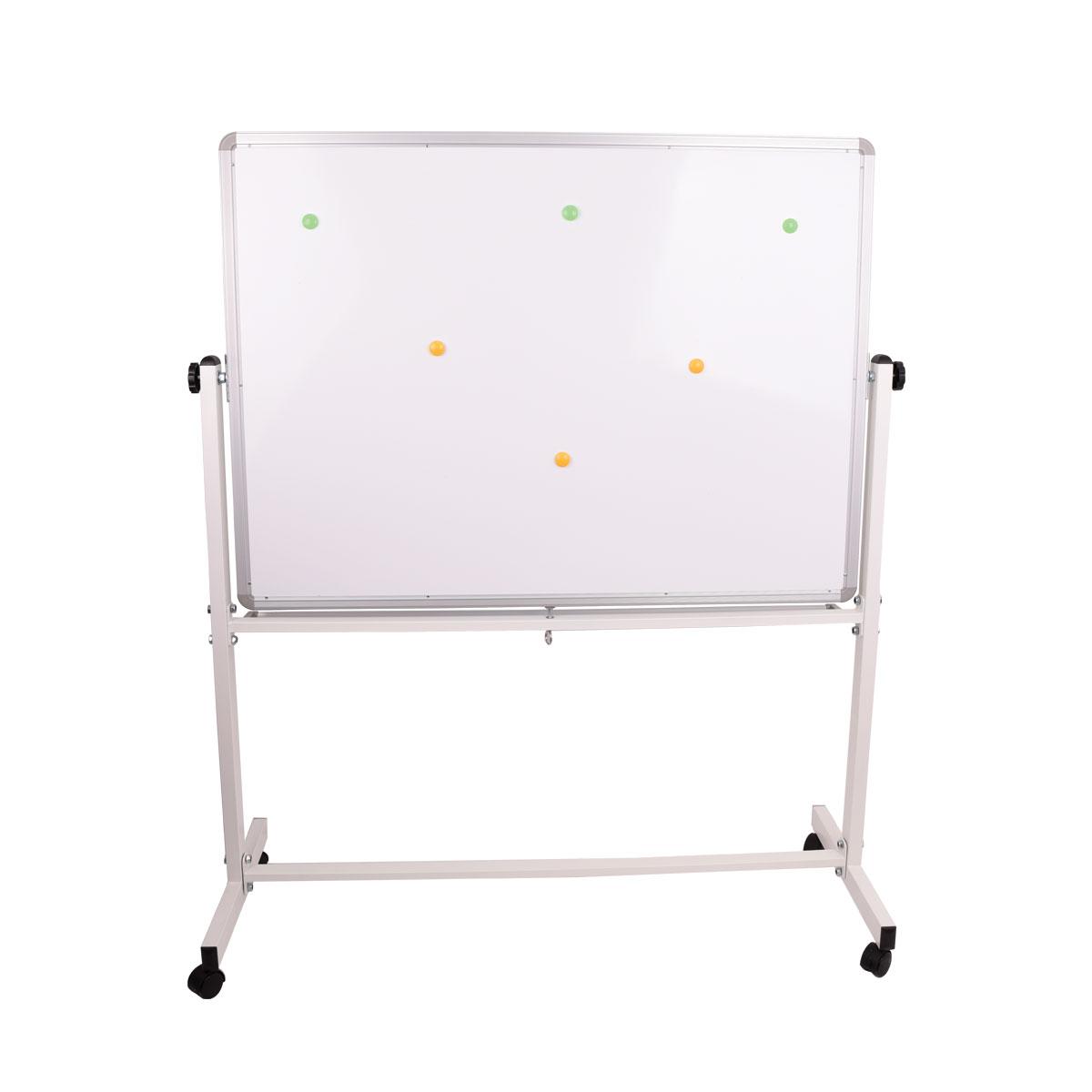 سبورة تعليم بيضاء مع استاند حامل - مقاس 120 * 90 سم - موديل L90120