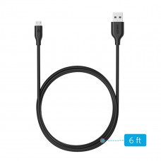 انكر بور لاين مايكرو  6 قدم USB  - أسود -A8133H12