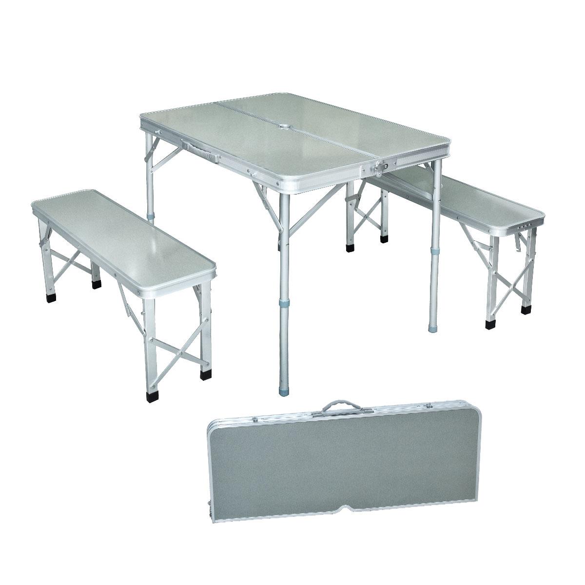 طاولة نزهات وتخييم المنيوم قابلة للطي مع كراسي - موديل 8829