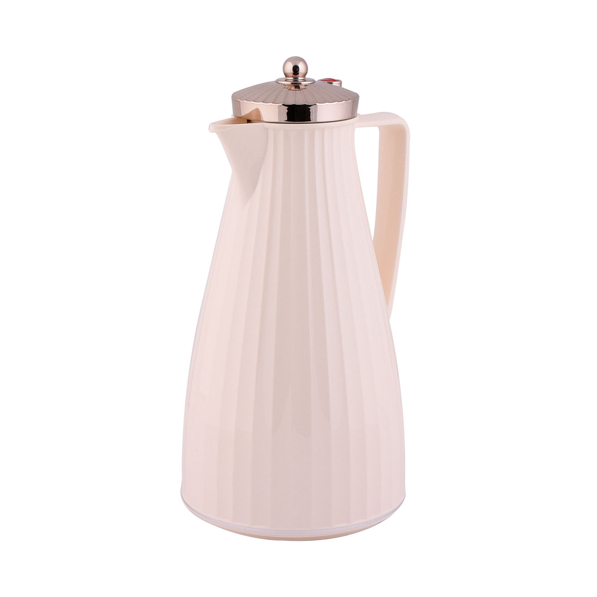 ترمس شاي وقهوة فلورا السيف  - 1.2 لتر  لون بيج بغطاء فضي - IWN