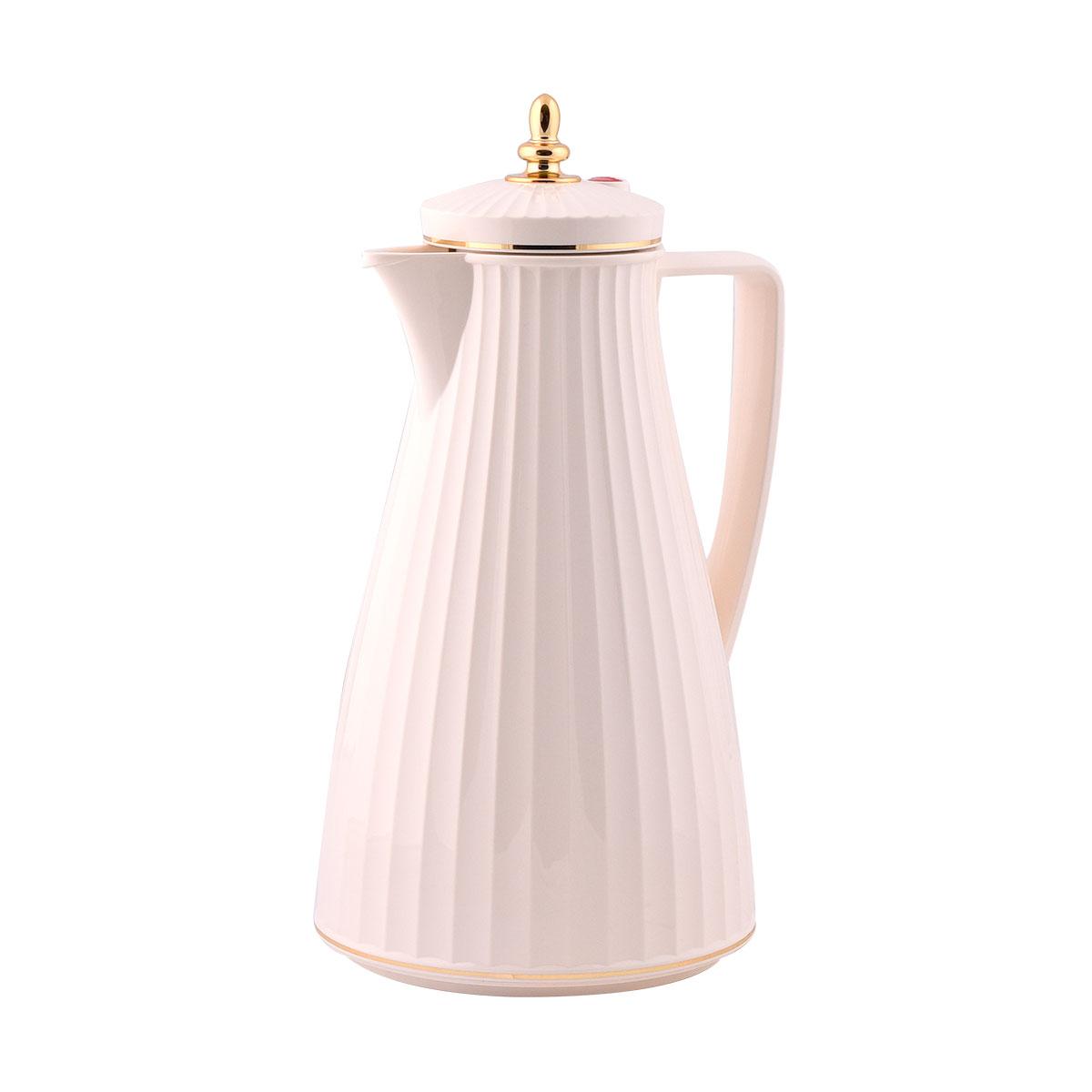 ترمس شاي وقهوة فلورا السيف لون بيج  - 1 لتر  - IW