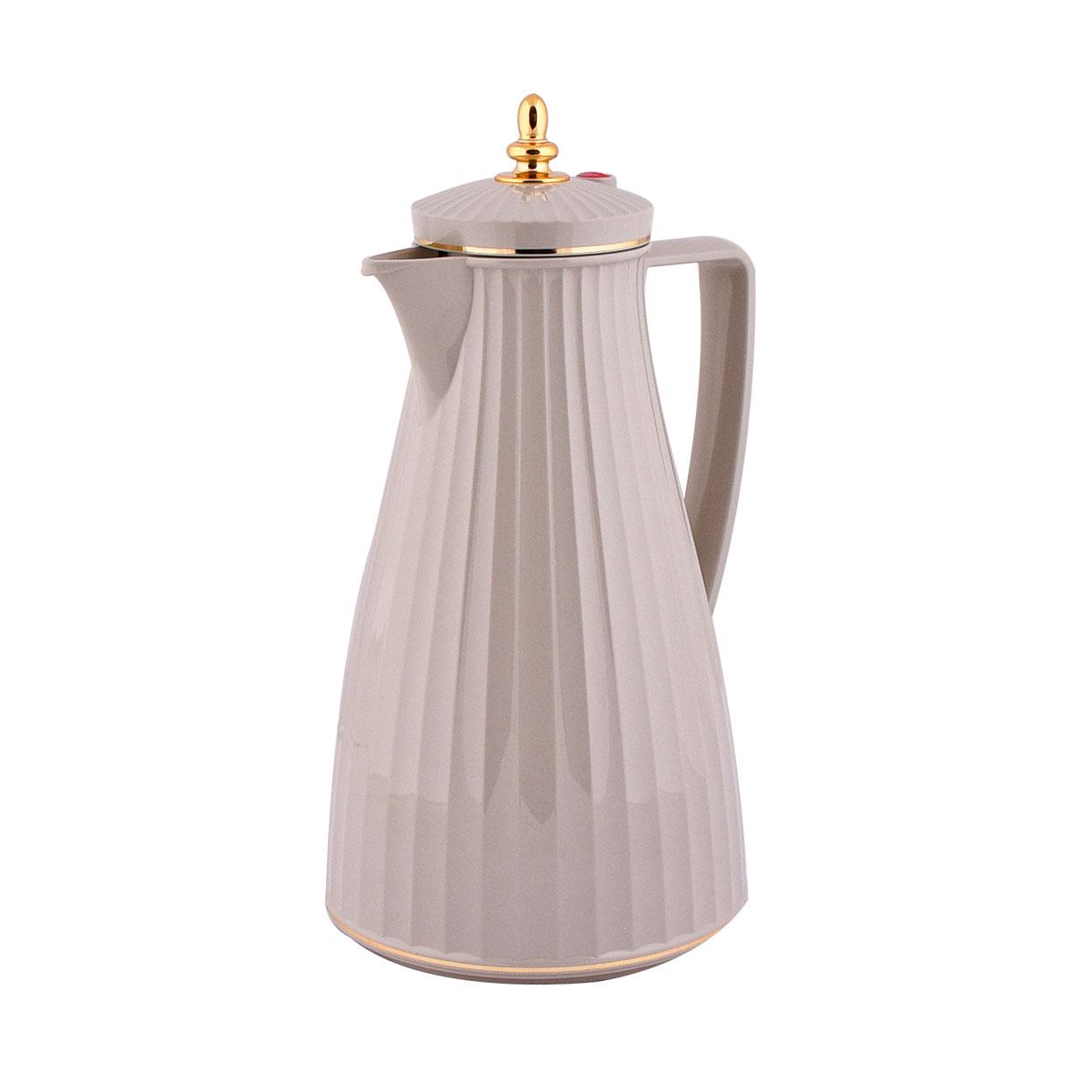 ترمس شاي وقهوة فلورا السيف لون رمادي - 1 لتر  - LSG