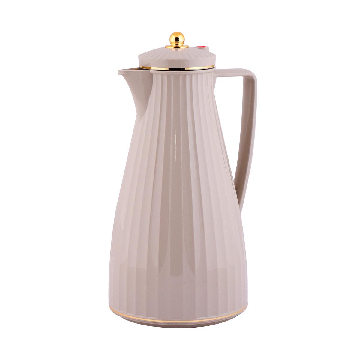 ترمس شاي وقهوة فلورا السيف  لون رمادي - 1.2لتر  - LSG