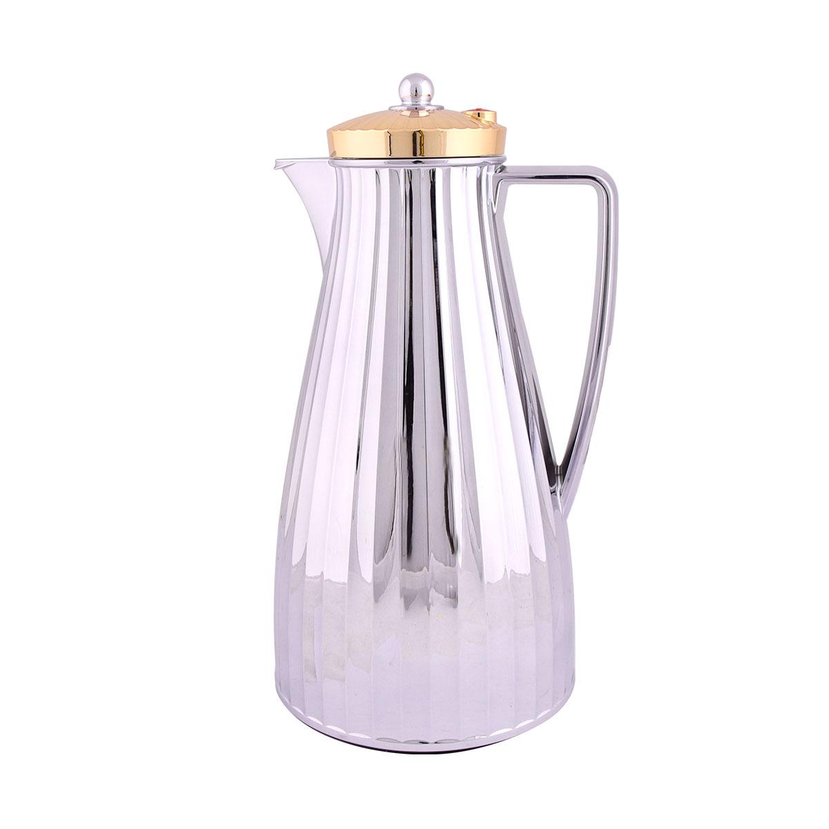ترمس شاي وقهوة فلورا السيف فضي بغطاء ذهبي - 1.2لتر  - CG