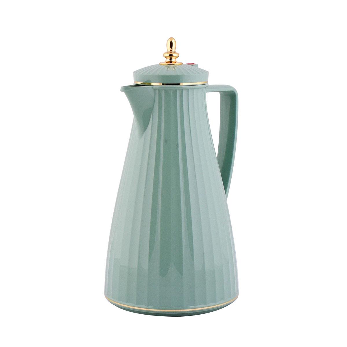 ترمس شاي وقهوة فلورا السيف - 1 لتر - لون اخضر فاتح  -TGN