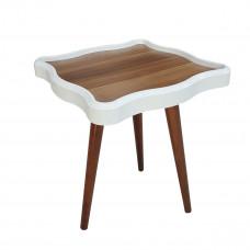 طاولة تقديم وخدمة خشب تركي 3 قطع لون بني - KARE
