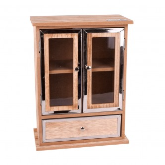 منظم مجوهرات واكسسوارات  خشبي - 3 ادراج - رقم 18018