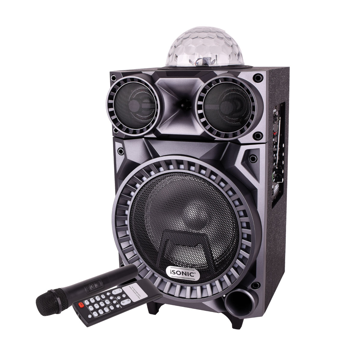 ايسونيك - مكبر صوت محمول وقابل للشحن مع عجلات - iS465