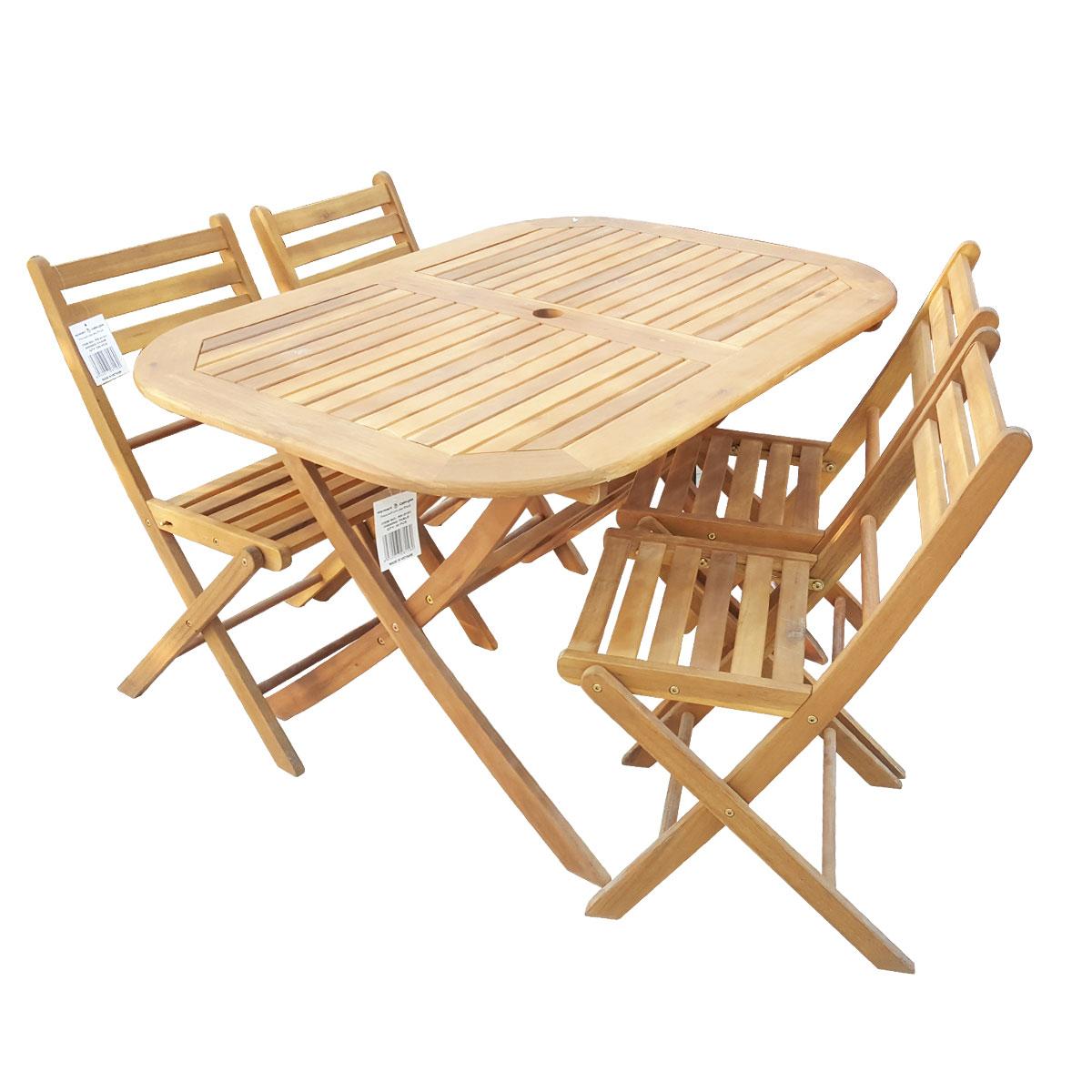 طاولة شرائح خشبية مع 4 كرسي - فيتنامي -  RK-0151