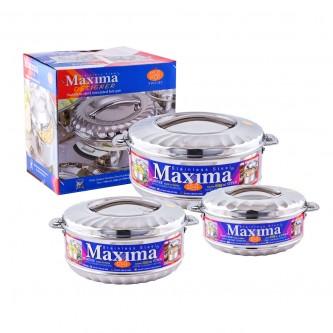 طقم حافظات طعام ماكسيما - استانلس استيل 3 مقاسات - HP104-3B