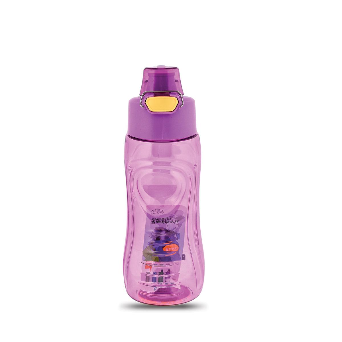 قارورة ماء مدرسية بلاستيكية - 850 ملي - الوان متعددة - 6522